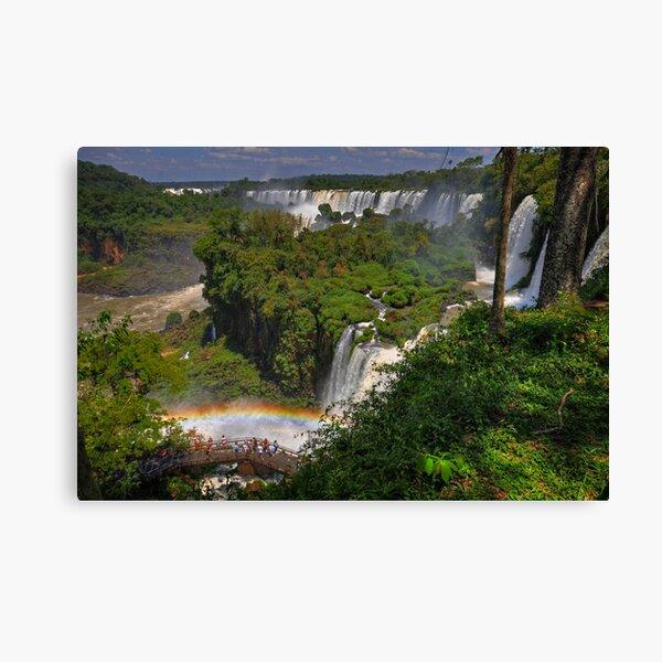 Rainbow and Falls Canvas Print
