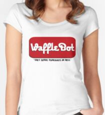 """Waffle Bot """"They Serve Pancakes in Hell"""" Women's Fitted Scoop T-Shirt"""