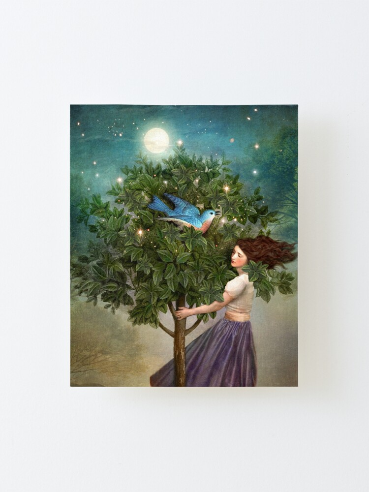 Alternate view of A Bluebird's Song Mounted Print