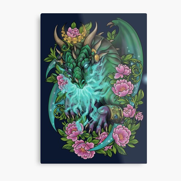 Ysera the Dreamer Green Dragon Aspect Metal Print