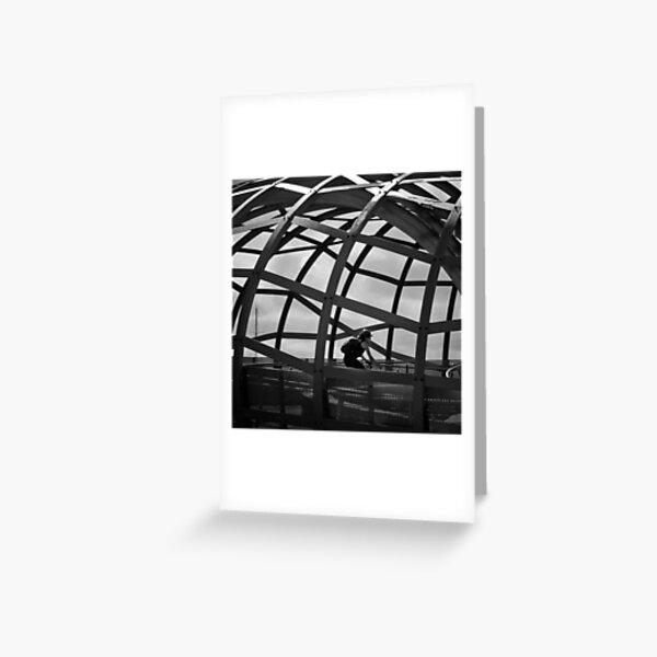 Caged Peddler Greeting Card