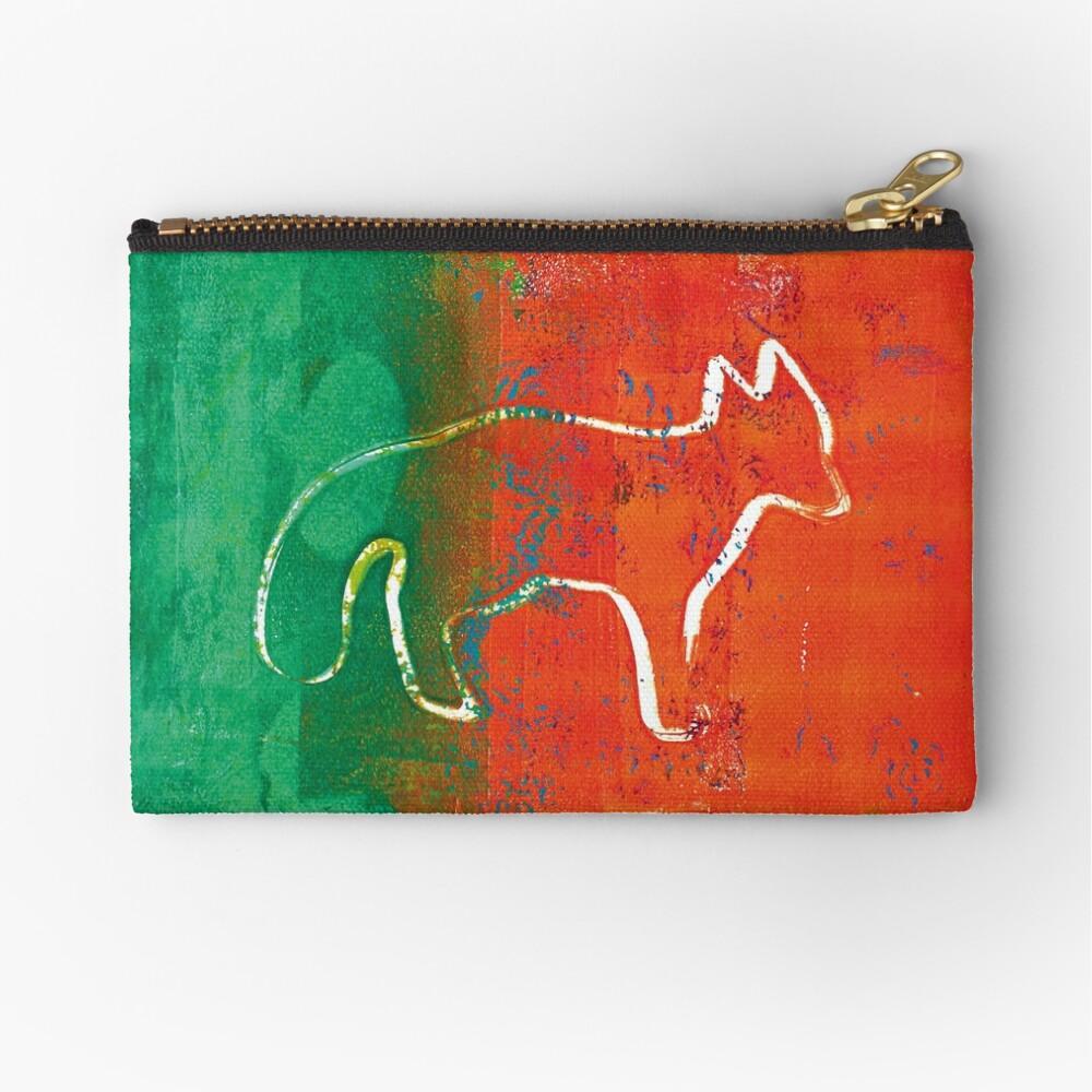 Red fox Zipper Pouch