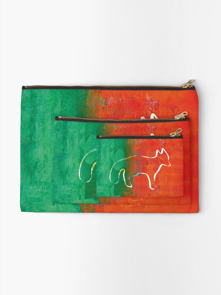 Alternate view of Red fox Zipper Pouch