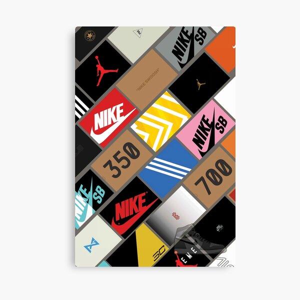 boîte de papier peint de baskets Impression sur toile