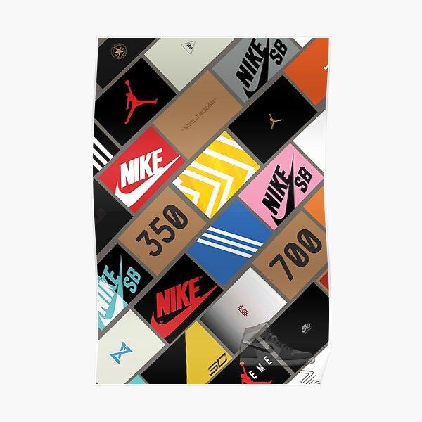 caja de papel tapiz de zapatillas Póster