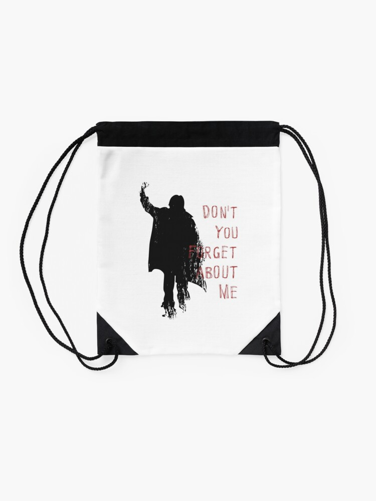 Alternate view of Don't You Forget About Me, 1985. Artwork for Wall Art, Prints, Posters, Tshirts, Men, Youth, Women Drawstring Bag