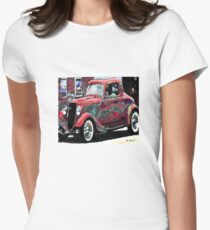 vintage car Women's Fitted T-Shirt