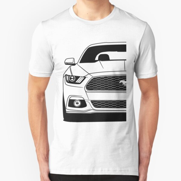 Ford Rouge Blanc et Bleu Mustangs Drapeau T-Shirt