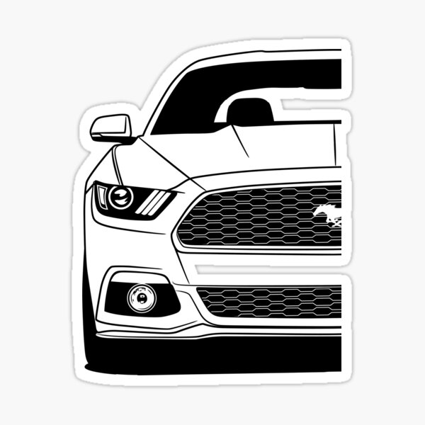 Ford Mustang Sixth Generation S550 Best Shirt Design Sticker