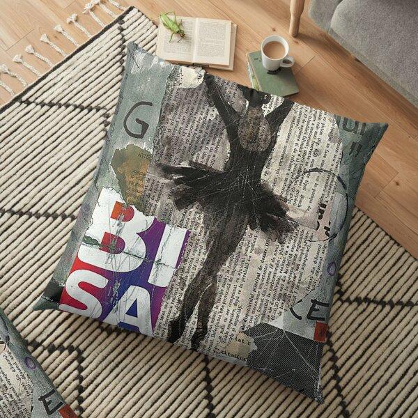 Old newspapers Floor Pillow