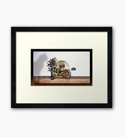 Rent Is Due Framed Print