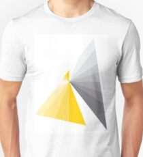 grey and yellow abstract design Unisex T-Shirt