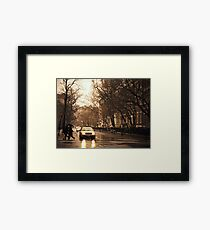 Rain - Greenwich Village - New York City Framed Print