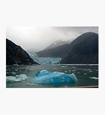 Glacier Bay Iceberg and Glacier Photographic Print
