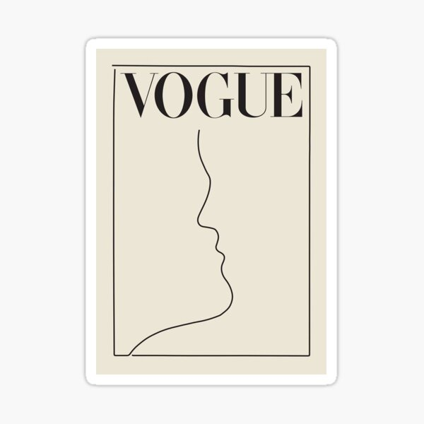 VOUGE COVER Sticker