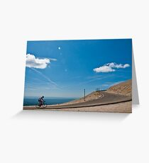 Climbing Mont Ventoux Greeting Card