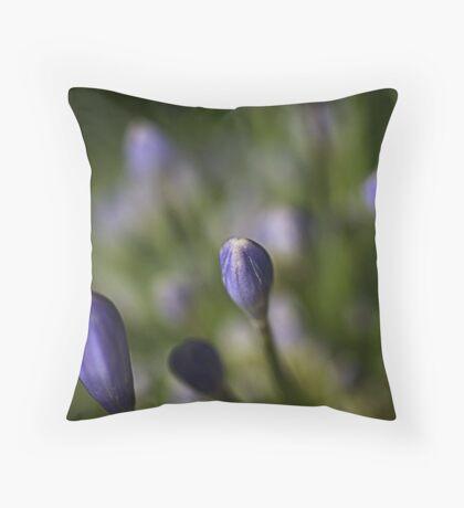 Agapanthus Reach Throw Pillow