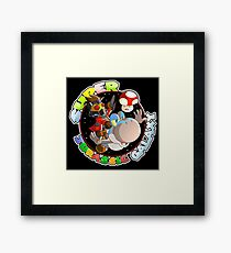 Super Jurassic Galaxy Gaming Adventure Mashup Framed Print