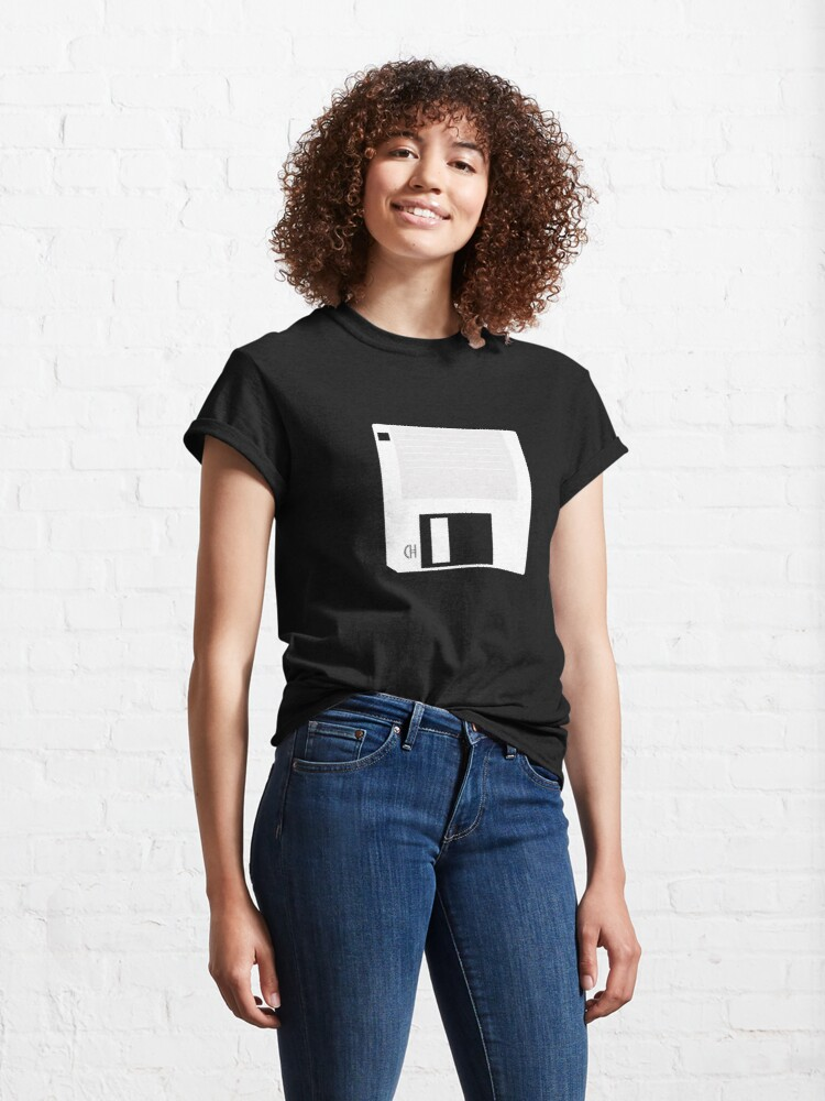 Alternate view of Floppy Disk 3.5-inch (Light) Classic T-Shirt