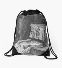 'Newspapers' Drawstring Bag