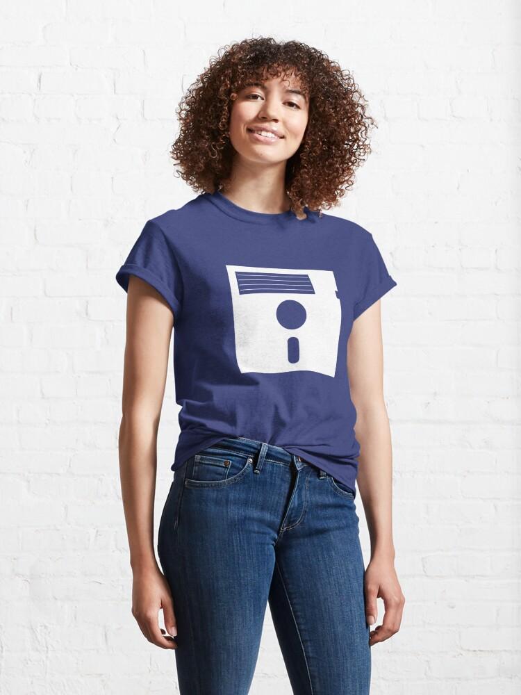 Alternate view of 5.25in Floppy Disk (Light) Classic T-Shirt