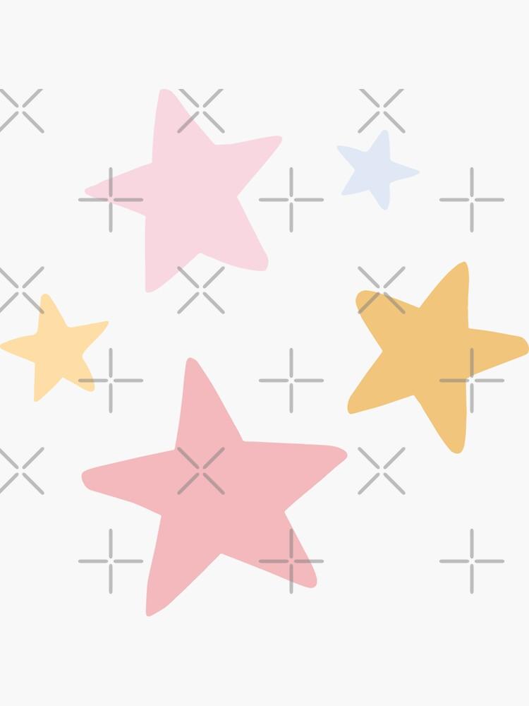 PASTEL STARS DOODLE by r0undincircles