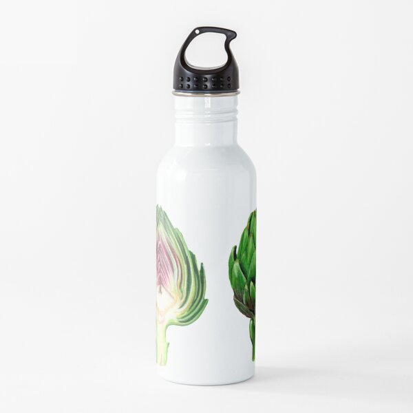 Alcachofa, Alcachofa y media, Media alcachofa, Ilustración de comida Botella de agua