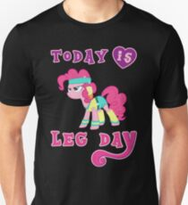 Heute ist Bein-Tagesgymnastik-Motivations-Pony-Eignung Slim Fit T-Shirt