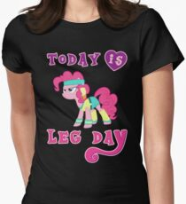 Today Is Leg Day Gym Motivation Pony Fitness  Women's Fitted T-Shirt
