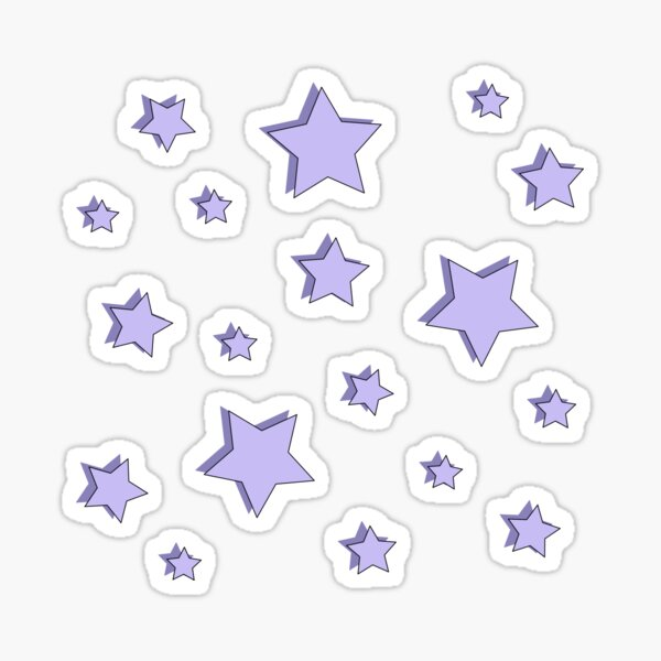 Pastel Purple Star Pack Sticker