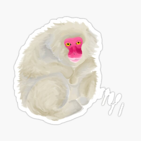 Snow monkey Sticker