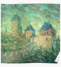 Karlstein Castle / 2012 / oil on canvas Poster