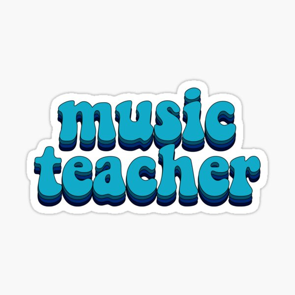 Music Teacher - Hippie Sticker