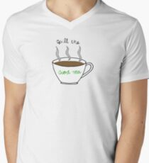 Spill The Good Tea Mens V-Neck T-Shirt