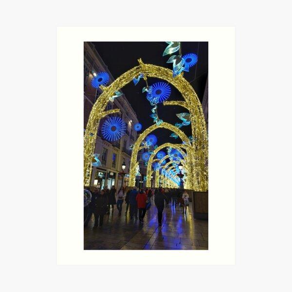 Christmas lights, Malaga 2019 Art Print