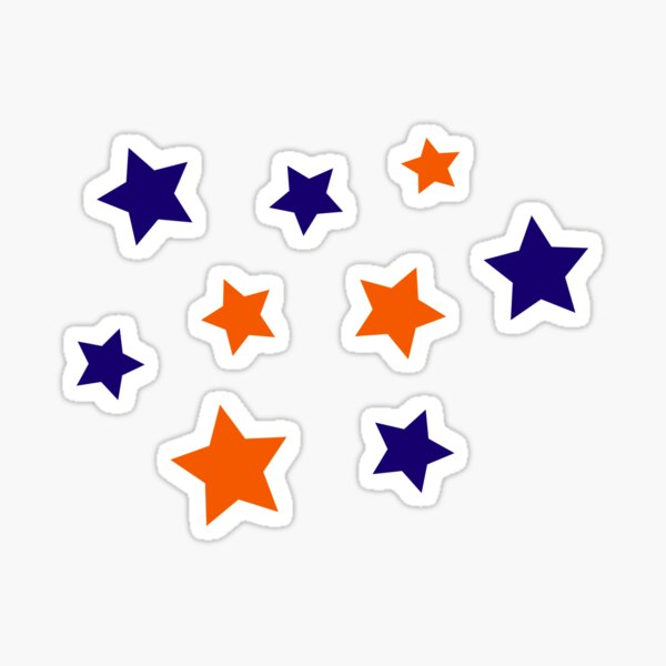 Blue and Orange Stars Sticker