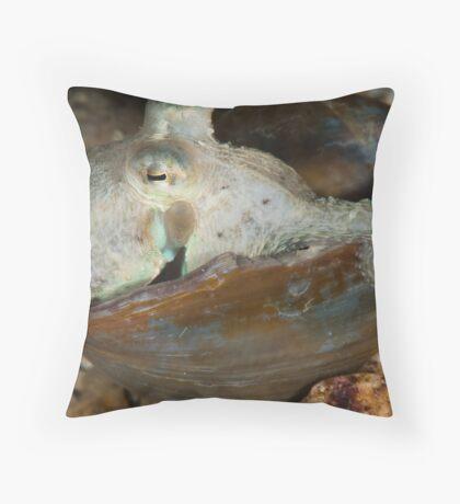Pale Octopus Throw Pillow