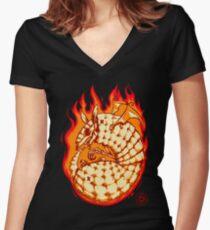 Skelladillo Women's Fitted V-Neck T-Shirt