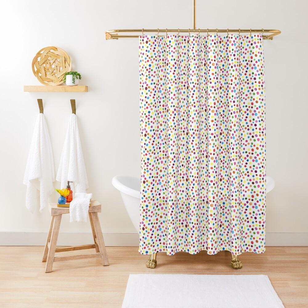 Watercolour Confetti Shower Curtain