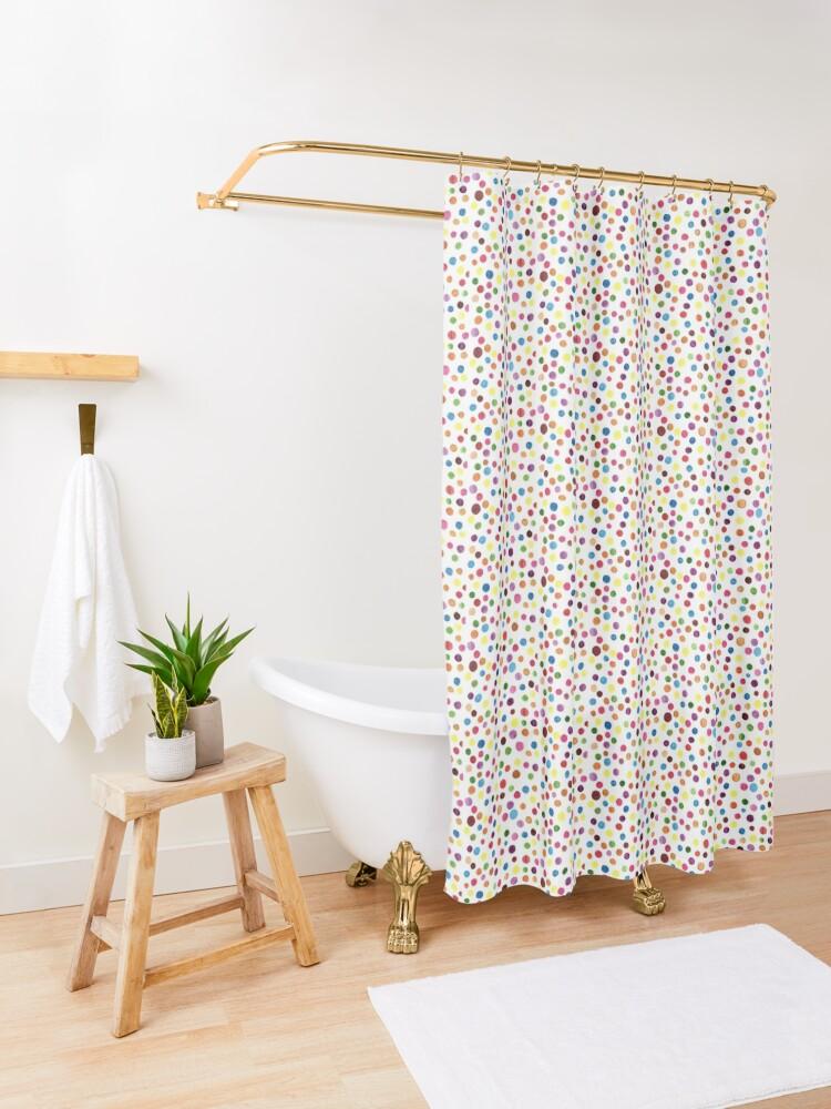 Alternate view of Watercolour Confetti Shower Curtain