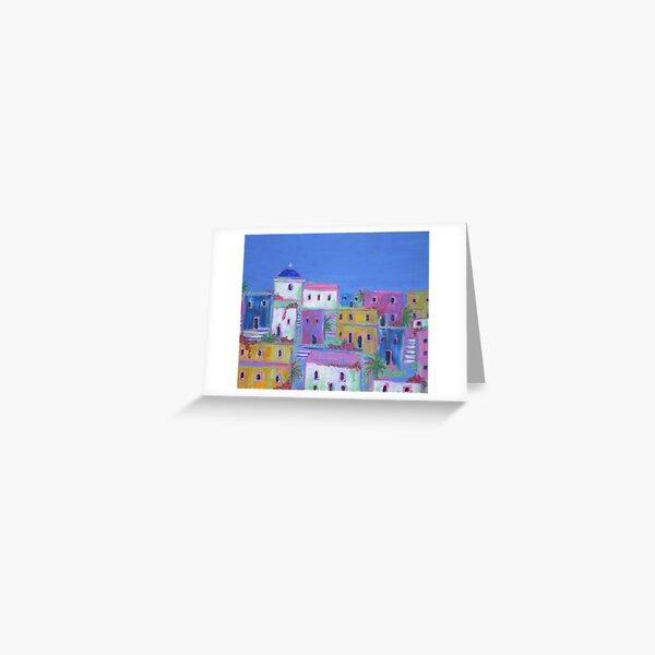 Mediterranean Village Greeting Card
