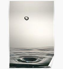 Faling Droplet into water surface Poster