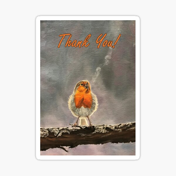 The Beauty of Birdsong - Thank You Card Sticker