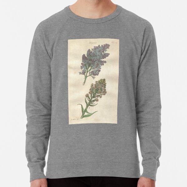 Lilac and Coltsfoot  Botanical Print by John Miller Lightweight Sweatshirt