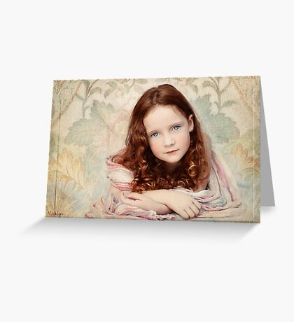 Pre-Raphaelite Redhead on a Pale Afternoon Greeting Card