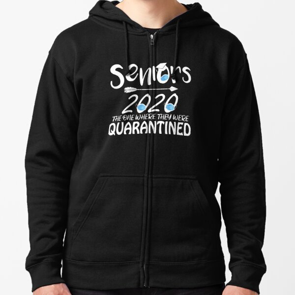 Seniors 2020 The One Where They were Quarantined Social Distancing Hoodie