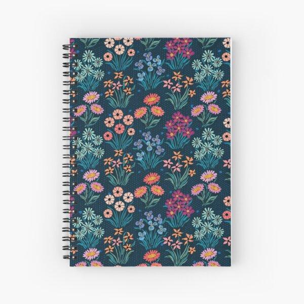 Flower Row Spiral Notebook
