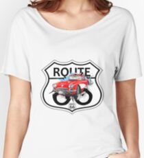 Vintage Route 66 US historic gifts red, white, black Women's Relaxed Fit T-Shirt