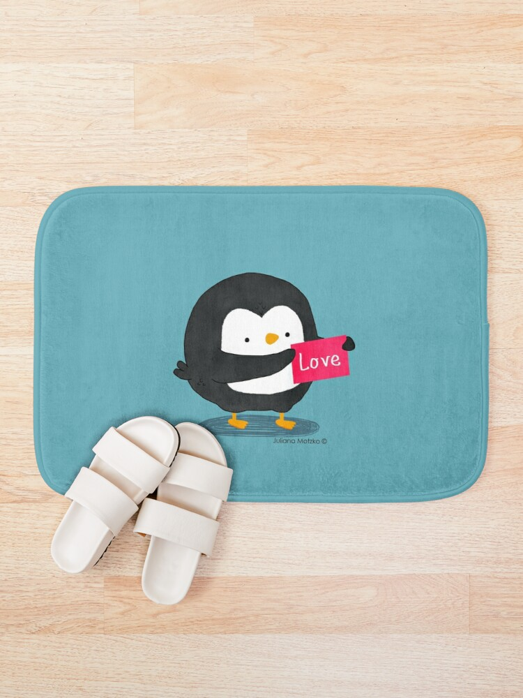 Alternate view of Penguin with a Love Card Bath Mat