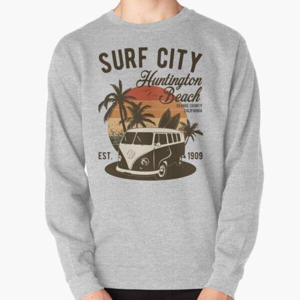 Vintage Surf City Huntington Beach California Summer Gift  Pullover Sweatshirt